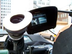 Looking through the viewfinder
