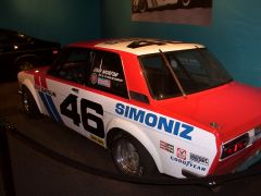 BRE Datsun 510 Display at the Peterson Museum.