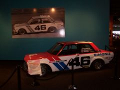 BRE Datsun 510 on Display at the Peterson.