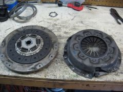 SR20DE/T Flywheel, Clutch, and Pressure Plate