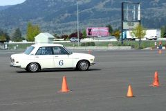 First autocross.  Not lost yet...