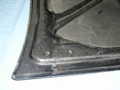 CF Trunk Lid - Underbracing, Close in