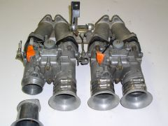 50mm Mikuni Carbs and Intake Manifold, the Air Horn Side