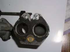 Single Weber Sidedraft Manifold, Close-up Gasket Side
