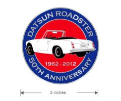 Datsun Roadster 50th Anniversary Grill Badge