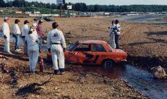 circa 1988, Datsun 510 in Brook at Bryar Loudon NH