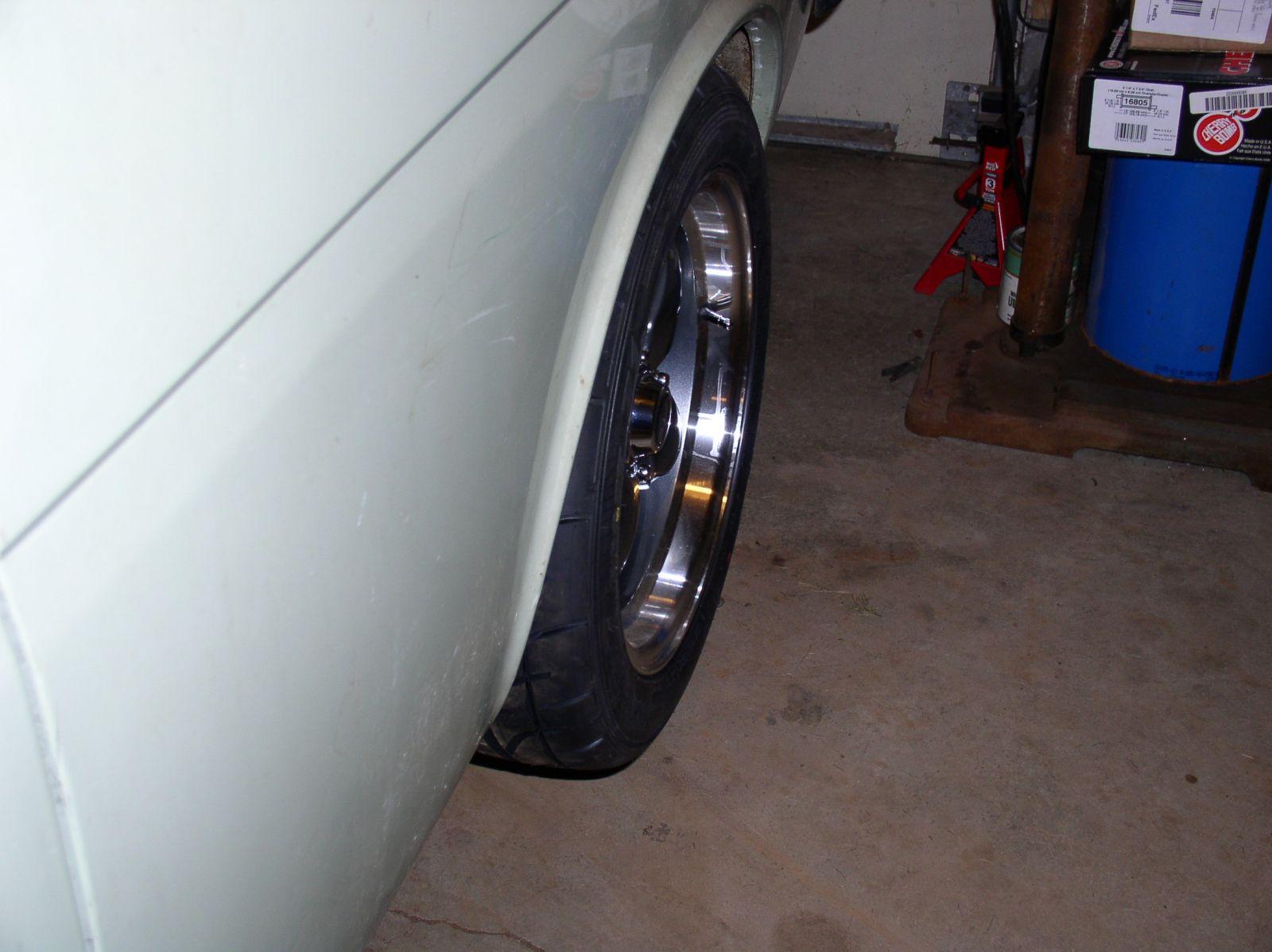 VTO Lemans 15x7 +18 offset, 205/15-15 Tires