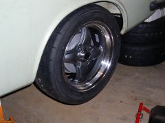 VTO Lemans 15x7 +18 offset, 205/15-15 Tires