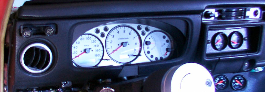 S15 Silvia Instrument Cluster in 510 Dash