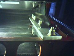 Left outer seat mounting (view looking front to rear)