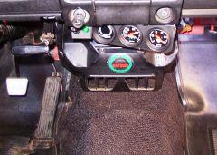 Under-dash gauges