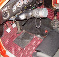 Driver's side retro Coco mat