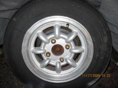 Western 13 x 5.5 Minilite/Panasport look wheels