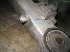 Broken DAMB rear crossmember