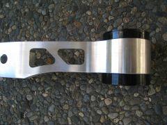 Detail View of Billet Aluminum Moustache Bar