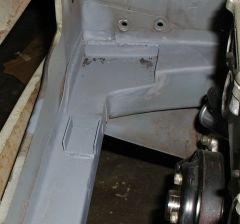 Radiator mount area