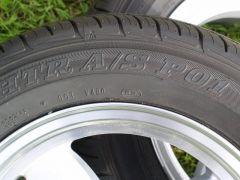 Retro 4 14x5.5 +22 silver 4x114.3 Sumitomo A/S PO1 185/60-14
