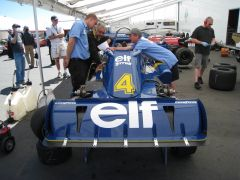 1976 ELF Tyrrell P34 6-wheel F-1 car was there