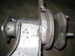 1980 Maxima disc brake mount detail