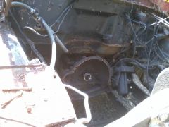 Toasted input shaft and oversized starter holes....