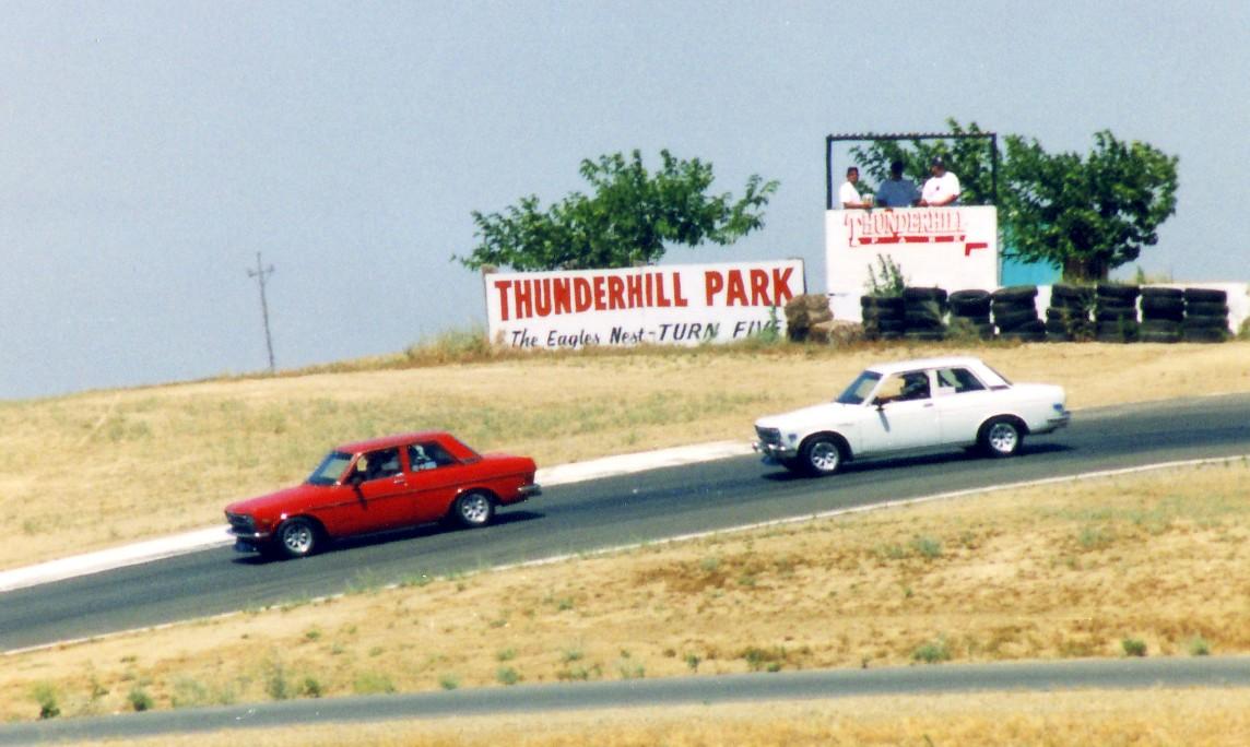 Thunderhill, with Steve Klimek in hot pursuit
