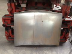 FutoFab Steel Body Panels - Hood Prototype