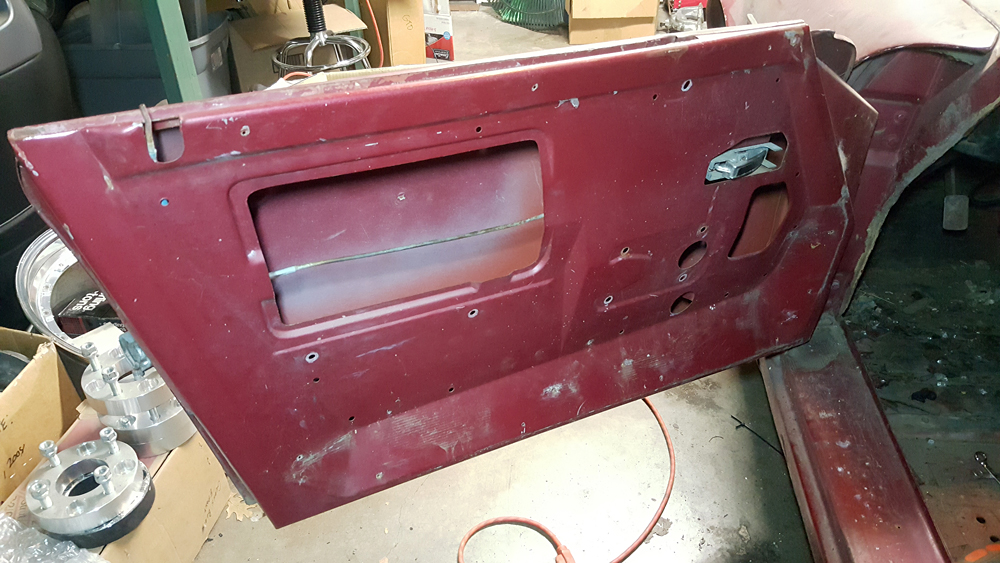 Left door stripped