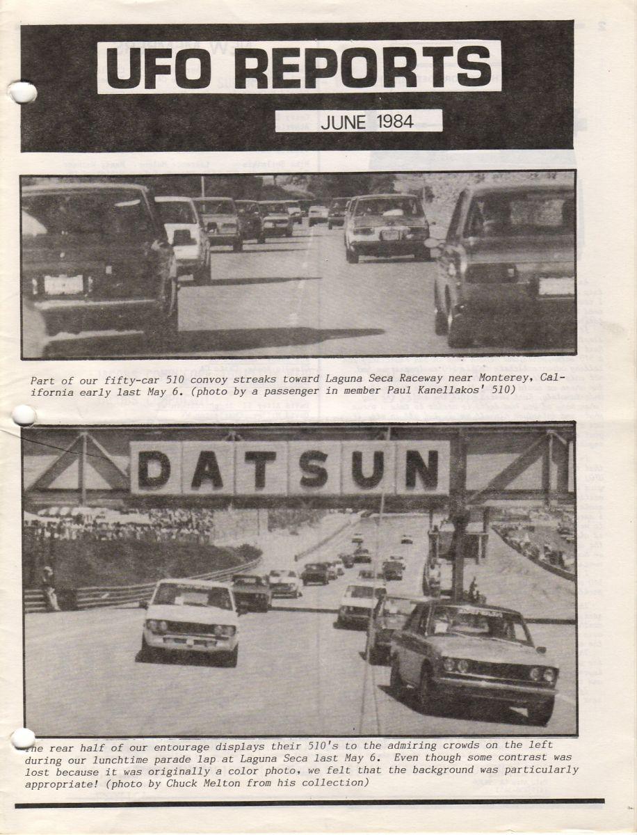 UFO at Laguna Seca 1984