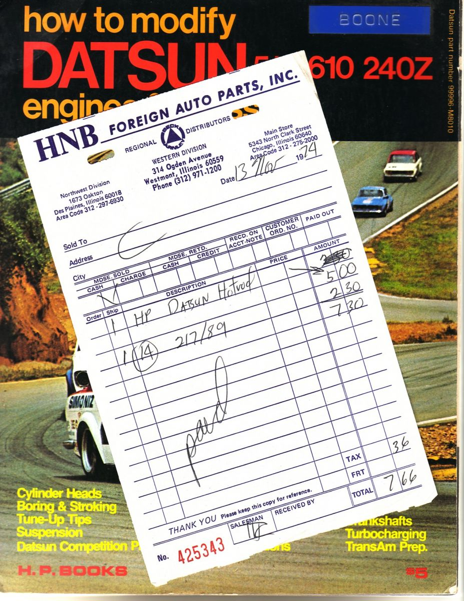 $5 for the Datsun Bible in '74