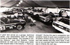 Datsun Tent at SCCA Runoffs 1976
