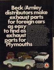 Beck Arnley Ad with 510 Wagon