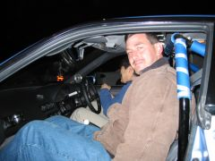 Ralph going for a ride in the CA18DET powered car...