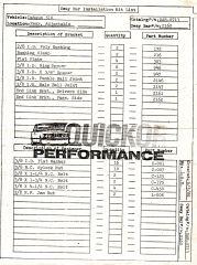 Quickor Adjustable Rear Swaybar Parts List