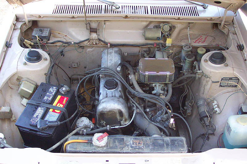 Engine Compartment before cleaning.