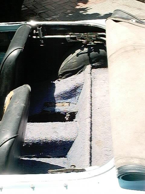 1964 Roadster rear seat area