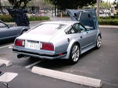 JDM 280zxt, blue, flared,rear