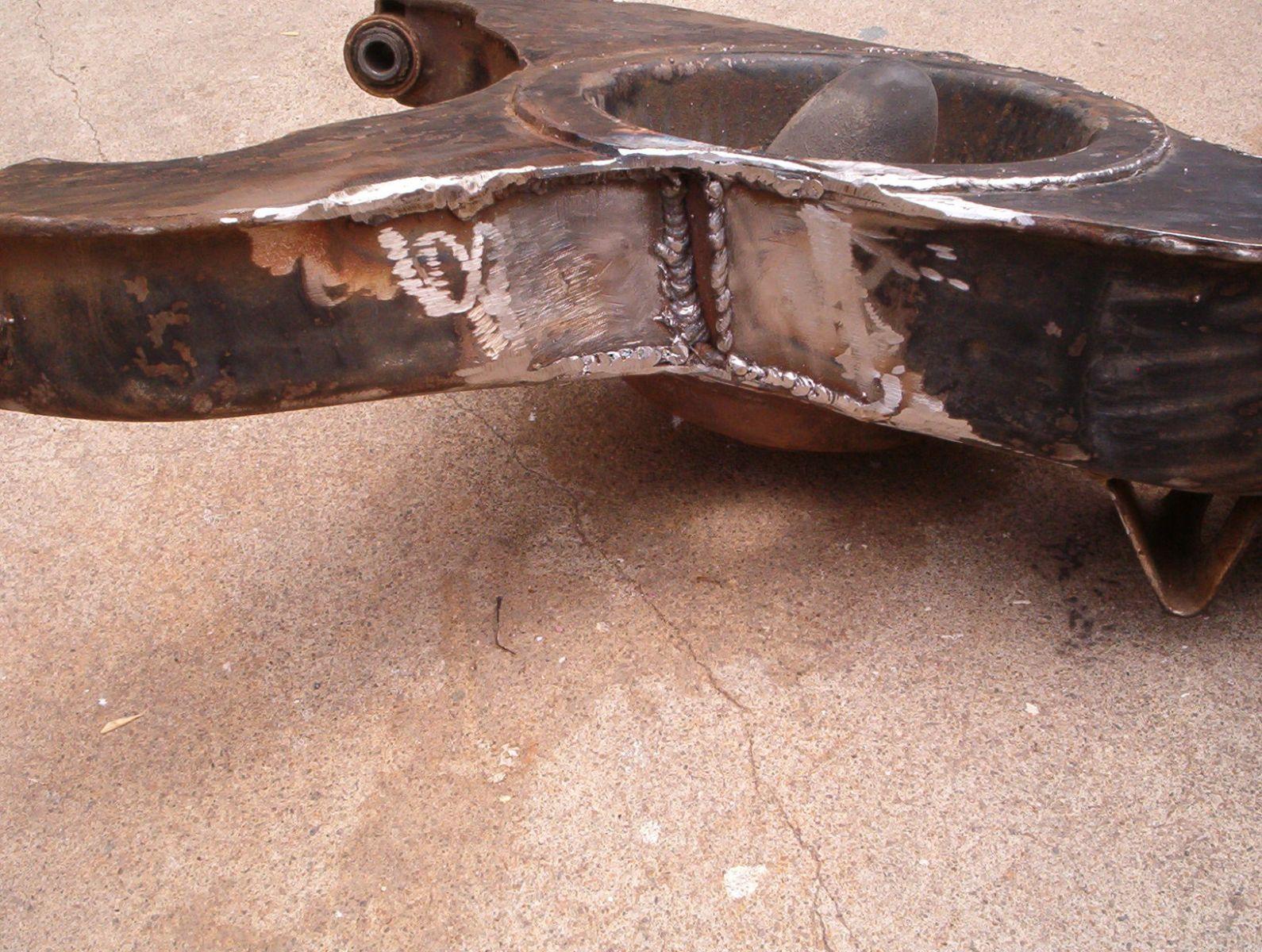 swing arm welded