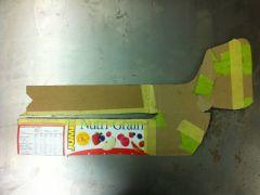 Bumper end - flat cardboard template