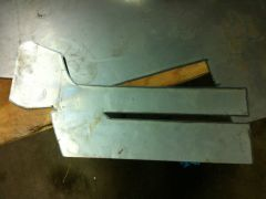 Bumper end - flat metal cutout
