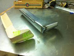 Bumper end - cardboard beside metal
