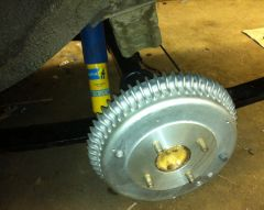 Brake drum and suspension