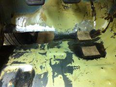 Rust on drivers side floor