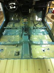 Whole floor after paint