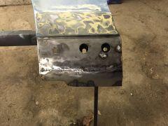 Bottom of fender repaired