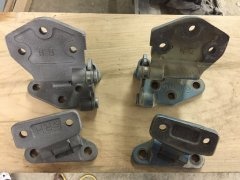 Hinge comparison-before and after sandblasting