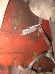 Aluminum Steering Box Brace, Back Side View