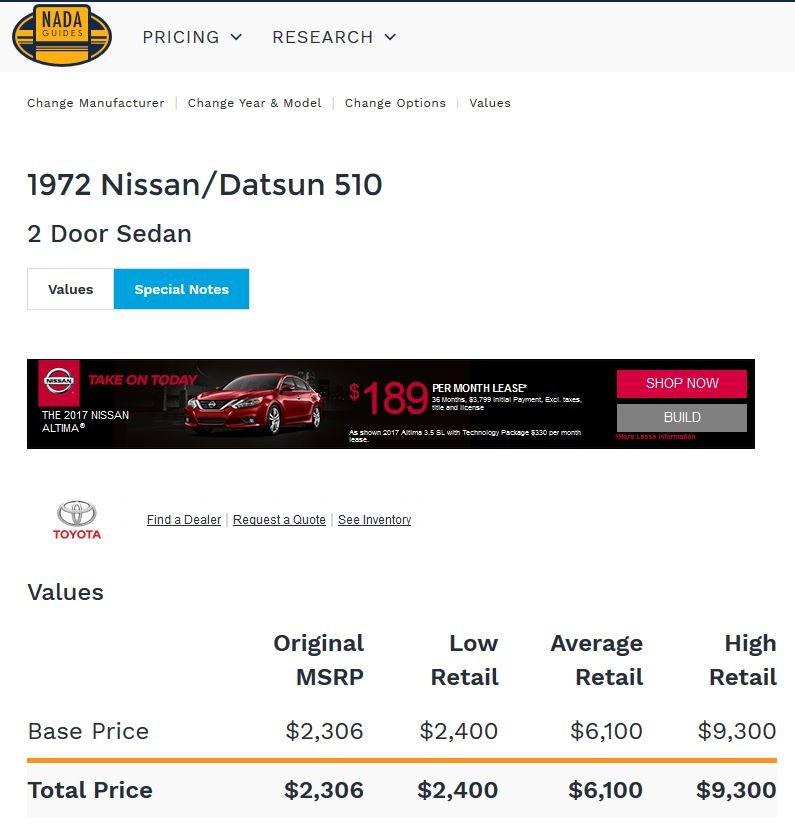 1972 Datsun 510 NADA guide 10052017.JPG