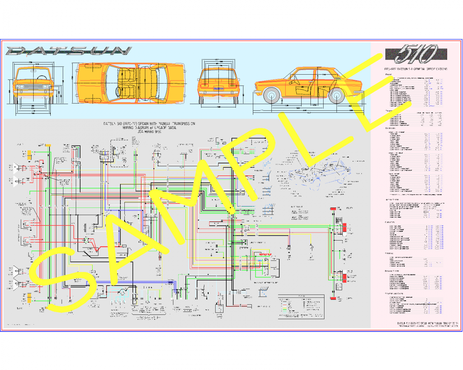 Poster Size Wiring Diagram & Data Sheet