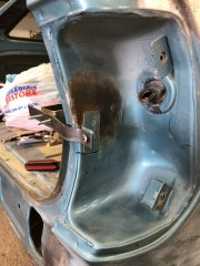 Rust in the taillight housing
