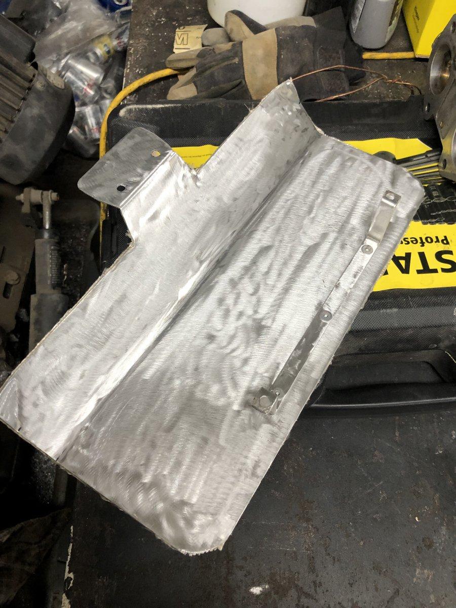 Heat shield ready for install